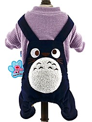 Cat / Dog Clothes/Jumpsuit Brown / Dark Blue / Wine Dog Clothes Winter / Spring/Fall Cartoon Cute / Fashion