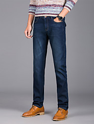 Men's Solid Casual / Work JeansCotton / Polyester / Spandex Blue WSL-6698