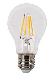 4W E26/E27 LED Glühlampen A60(A19) 4 COB 400 lm Warmes Weiß Dimmbar V 1 Stück