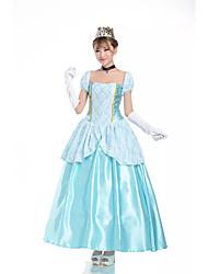 Costumes Déguisements de princesse Halloween Bleu Ciel Mosaïque Térylène Robe / Plus d'accessoires