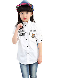 Girl's Casual/Daily Animal Print BlouseCotton Spring / Fall White
