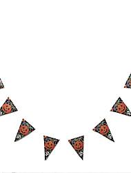 Artigos de Halloween Mago/Bruxa Festival/Celebração Trajes da Noite das Bruxas Vermelho e Preto / Preto/Branco Estampado Mais Acessórios