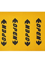 ZIQIAO 4pcs/set Reflective Car Door Sticker Open Words Letters Safety Warning Sticker Car Styling Decoration