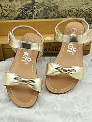 Girl's Sandals Summer Sandals Microfibre Casual Flat Heel Bowknot Silver / Gold Others