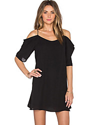 Women's Off Shoulder Chiffon Mini Dress