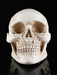 presentes resina de cabeça branca crânio de Halloween adereços pequeno crânio humano réplica assombrado quarto casa escapar suprimentos