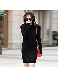 Women's Casual/Daily Sexy Winter Set SkirtSolid Round