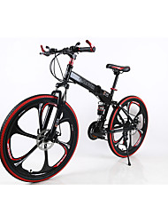 Mountain Bike / Folding Bike Cycling 21 Speed 26 Inch/700CC Men's SHIMANO TX30 Double Disc Brake Springer Fork Rear Suspension