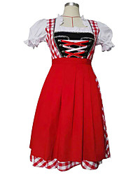Cosplay Costumes / Party Costume Halloween / Oktoberfest Red Patchwork Terylene Dress / More Accessories Halloween/Christmas/New Year