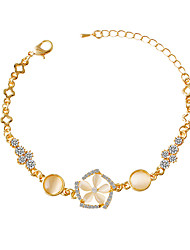 Bracelet/Chain Bracelets Alloy / Rhinestone / Opal Flower Fashionable Party / Daily Jewelry Gift Gold1pc