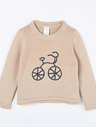 Girl's Casual/Daily Solid Sweater & CardiganCotton Fall Brown