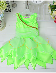 Girl's Party/Cocktail Halloween Solid DressCotton / Polyester Summer Green