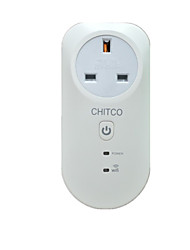 CHITCOWiFi Intelligent Round Head British Regulation Sockets Timing Mobile Phone APP Control Household Appliances