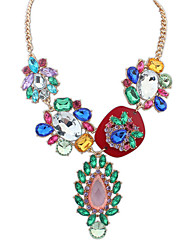 Necklace Pendant Necklaces Jewelry Party / Daily / Casual Bohemia Style Alloy / Acrylic / Rhinestone Pink 1pc Gift