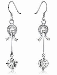 May Polly The personality down guitar long Diamond Earrings