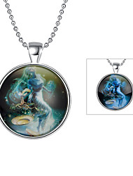 Cremation Jewelry Magical Glow in The Dark 925 Sterling Silver Luminous Constellation Pendant Necklace