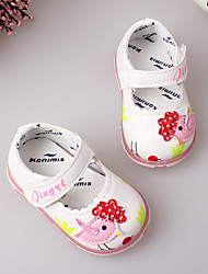 Girl's Flats Spring Fall PU Casual Flat Heel Animal Print Pink Red White Other