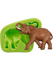 Animal Elephant Silicone Mold Cake Decoration Sugarcraft Tools Polymer Clay Fimo Fondant Making Color Random