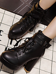 Women's Boots Spring / Summer / Fall / Winter Heels Other Animal Skin Casual Chunky Heel Others Black Others
