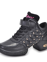 Non Customizable Women's Dance Shoes Jazz / Modern Boots /Sneakers Low Heel Beginner