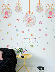 Wall Stickers Wall Decals Merry Christmas Feature Removable Washable PVC