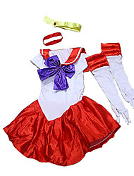 Costumes Movie & TV Theme Costumes Halloween Patchwork Terylene Dress / Gloves / Headwear
