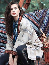 Aporia.As Women's Shirt Collar Long Sleeve Jackets Beige-MZ06053