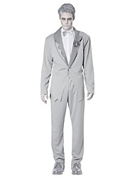 Costumes Ghost Halloween Gray Solid Terylene Top / Pants / More Accessories