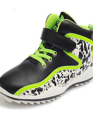 Girl's Sneakers Spring / Fall / Winter Comfort Leatherette Outdoor / Casual Flat Heel Lace-up  Track & Field / Sneaker