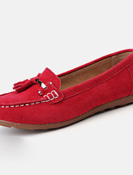 Women's Oxfords Spring Fall Suede Casual Flat Heel Black Blue Red Royal Blue Other