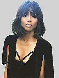 естественные волнистые человеческий волос парики для женщин