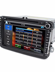 2 Din 8 inch Car DVD Player for VW with 3G/Wifi SWC USB GPS Navigation BT FM RDS