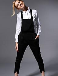 novo antes sólida jumpsuitssimple preto halter mangas das mulheres