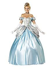 Cosplay Costumes Fairytale Movie Cosplay Blue Solid Leotard/Onesie / Headpiece / Gloves Halloween / Christmas / New Year Female Polyester