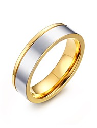 Men's Couple Rings Stainless Steel Matte Polished IP Gold Plating Casual Daily Party(White)(1Pc)
