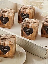 12 Шт./набор Фавор держатель-Кубический КартонКоробочки Мешочки Сувенирные шкатулки Конус для сувениров Горшки и банки для конфет