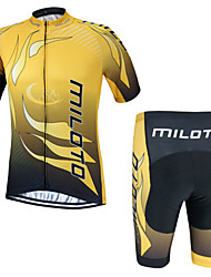 Miloto® Cycling Jersey with Shorts Men's Short Sleeve Bike Breathable / Quick Dry / Moisture Permeability / YKK Zipper / Sweat-wicking