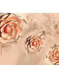 Fleur Fond d'écran pour la maison Contemporain Revêtement , Intissé Matériel adhésif requis Mural , Chambre Wallcovering