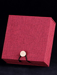 Jewelry Boxes Paper 1pc Red / Brown