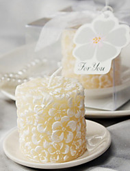 4box/set - Plumeria Floral-Scented Candle with Ceramic Candle Holder Beter Gifts® Wedding Recipient Keepsakes