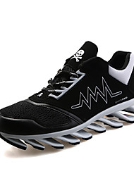 Femme-Extérieure / Décontracté / Sport-Noir / Rouge / Vert clair-Talon Bas-Confort-Sneakers-Cuir