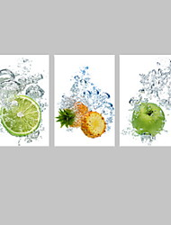 VISUAL STAR®Splash Water Fruit Picture Giclee Print on Canvas dining Hall Decor Wall Art Ready to Hang