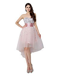 Cocktail Party Dress A-line Sweetheart Knee-length Tulle with Sequins