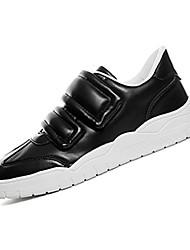 Men's Sneakers Spring / Fall Comfort PU Casual Flat Heel Magic Tape Black / Red / White Sneaker