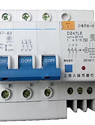 DZ47LE-63 3р п фазы четырехпроводный выключатель утечки