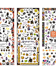 3sheet/set HOT199-201 new Halloween design Water decal Nail Sticker design Nail Art Decals Water Transfer sticker Tips