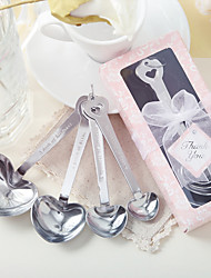 Love Beyond Measure Heart Shaped Stainless Steel Spoon Set With Ribbons/Tag