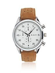 Мужской Модные часы Кварцевый Календарь Кожа Группа Повседневная Коричневый марка