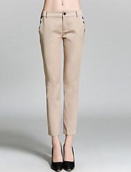 burdully Frauen feste beige / schwarz Geschäft pantssimple