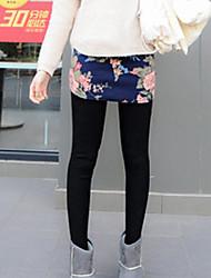 Feminino Estampada Legging,Poliéster